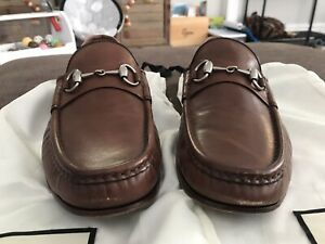 Gucci Brown Leather Horsebit Loafer Mens 10 US 9 UK With Dustbags
