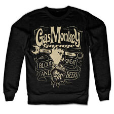 Officially Licensed Gas Monkey Garage Wrench Label Sweatshirt S-xxl Sizes XL Black