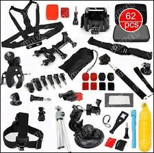 Accessories Pack Case Chest Head Monopod For GoPro Go pro HD Hero 4 3+ 3 2 62in1