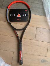 "Wilson Clash 100 tennis racket, unstrung, grip 4 1/8"""