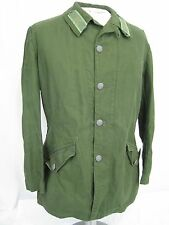 Vintage Swedish Army Jacket / Coat  Green 1969 Crown Logos NICE! C50