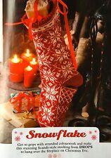 KNITTING PATTERN Fair Isle Snowflake Christmas Stocking Drops PATTERN
