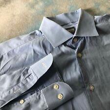 Armani Collezioni Sz 16.5-33 Business Blue Button Down Men's Shirt