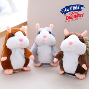 Talking Hamster Chat Mimicry Pet Record hamster Doll Xmas Plush Toy Nod Mouse