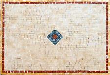 Rhombus Diamond Center Middle Garden Home Decor Marble Mosaic Geo568