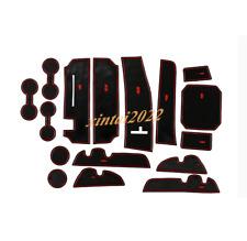 For Toyota Highlander 15-19 Inner Accessories Door Mats Gate Slot Mat Cup Pads
