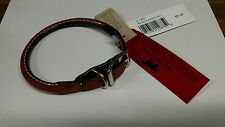 """Auburn Leathercrafters Rolled Dog Collar Round 5/8 x 14 tan 12""""-14"""" New"""