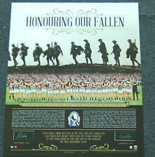 COLLINGWOOD PENDLEBURY BUCKLEY HAND SIGNED HONOURING OUR FALLEN 2015 ANZAC PRINT
