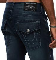 True Religion Men's Geno Slim Fit Stretch Jeans in Night Crawler