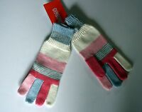 New Gymboree Cozy Fairy Tale Line Pink Striped Gloves Size Small 5-6 Year