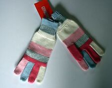 New Gymboree Cozy Fairy Tale Line Pink Striped Gloves Size Large 10-12 Year