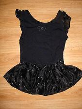 Girls Gymnastics-Dance-Tumbling-Skating Skate Costume-Glitter Skirt-Dress-S-6-7