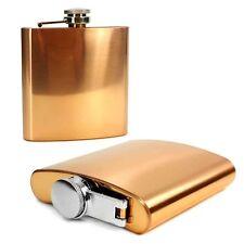 E-Volve Hip Flask -6Oz- Stainless Steel Wedding Golf Best Man Gift - Copper