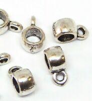 30 Metall Spacer Verbinder Perlen 6mm Röhre Zwischenperlen Schmuck Basteln F127