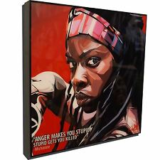 Michonne The Walking Dead Art Framed Canvas Poster Print Gloss Painting TWD AMC