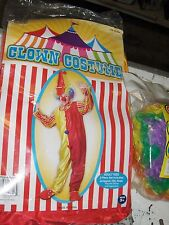 Toy Party Adult Circus Clown Suit Hat Wig- Red Nose  4 item kit