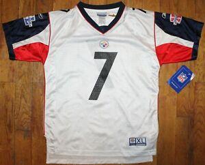 BNWT 2006 Reebok Pittsburgh Steelers #7 Ben Roethlisberger Super Bowl XL Jersey