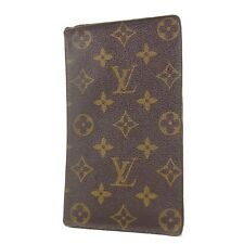 Auth LOUIS VUITTON M62225 Monogram Porte Chequier Cartes Credit Wallet F/S 1378