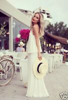 Zara White Drape Double Layered Maxi Dress Size XS/S/M/L - UK 6/8/10/12 - BNWT