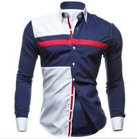 Fashion Men's Shirts Slim Fit Long Sleeve Casual Dress Shirts New T-Shirts Tops