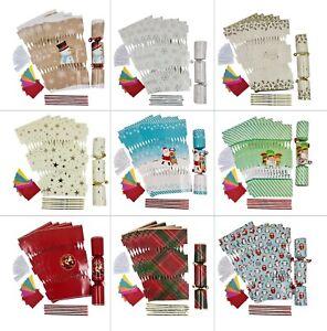 12 X Make Your Own Christmas Cracker kit Hats Snaps Crackers Jokes