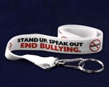 Stand Up To bullying End Speak Out Lanyard ID Holder badge Key  NEW