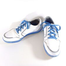 Ashworth Golf Shoes Size 8.5 M Mens Spikeless White Blue Gray G54282