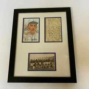 Al Simmons Signed Original 1931 Tour Of Japan Postcard W/ Handwritten Lineup JSA