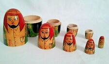 Nesting Dolls from Dubai 4 Dolls Hand Painted Man Sheikh  New