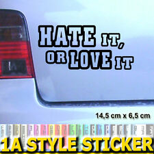 Hate It or Love It pegatinas Shocker Golf GTI sticker turbo Audi Quattro