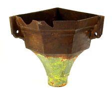 ^ Antique 1800's Victorian Cast Iron Corner Gutter Downspout Drain Pipe Hopper