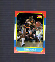 1986-87  FLEER TERRY TEAGLE  Baylor Bears  GOLDEN STATE WARRIORS  #107
