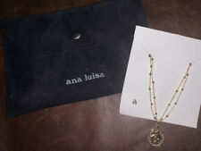 NEW Exquisite Ana Luisa 14k Gold Plated Gold Coin ~hope,love,create~ Necklace