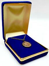 1986 Star Trek Dr McCoy 1/10 Oz Solid Silver Medallion/Necklace- Display Box