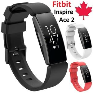 For Fitbit Inspire / Inspire HR / Ace 2 - Replacement Silicone Band Small Large
