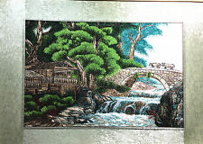 Beautiful Handmade Finished Embroidery of Countryside