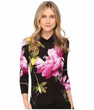 NEW Ted Baker - Merilie Citrus Bloom Sweater (Black) Women's Sweater- 3 M $195