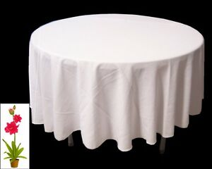 """12 x Tablecloths Table Cloth Wedding White 260cm 104"""" Inches Round Event, Party"""