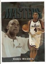 CHRIS WEBBER 1997-98 TOPPS FINEST SILVER EMBOSSED UNCOMMON 129 BULLETS WIZARDS
