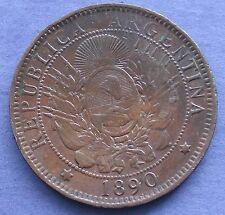 MONETA COIN MONNAIE REPUBLICA ARGENTINA - DOS CENTAVOS LIBERTAD 1890 - 1 -
