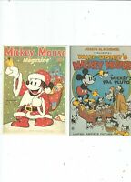 2 POSTCARDS OF DISNEY   MAGAZINE COVERS PUBL BY CAMDEN GRAHPIC