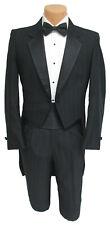 Men's Black Raffinati Tuxedo Tailcoat with Pants Vintage Retro Wedding 38L 32W