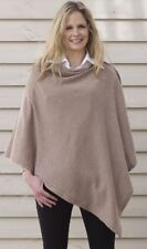 CASHMERE Button PONCHO BROWN Wrap One Size Fits All, Buttoned PONCHO,Buton