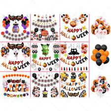 Happy Halloween Balloons Set Animal Spooky Bat Tassel Hanging helloween haloween
