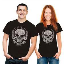 Markenlose mit Totenkopf Kurzarm Herren-T-Shirts