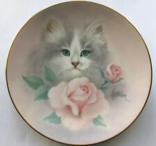 Cat Art Plate Blushing Beauties Petals & Purrs by Bob Harrison '88 The Hamilton