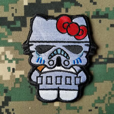 Star Wars Darth Vader Storm Trooper Cartoon Hello Kitty Morale Hook Patch White