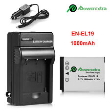 EN-EL19 Battery + Charger For Nikon Coolpix S33 S7000 S6900 S3700 S3500 S3600
