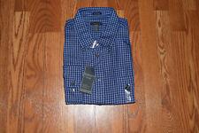 NWT Mens VAN HEUSEN Blue Deep Ultram Checkered LS Dress Shirt Size XL