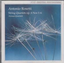 String Quartets, Op. 6, Nos. 1-6 : Antonio Rosetti